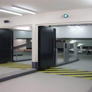 Portes de Grandes Largeurs E60 – Parking Tour T1 – La défense – 2008