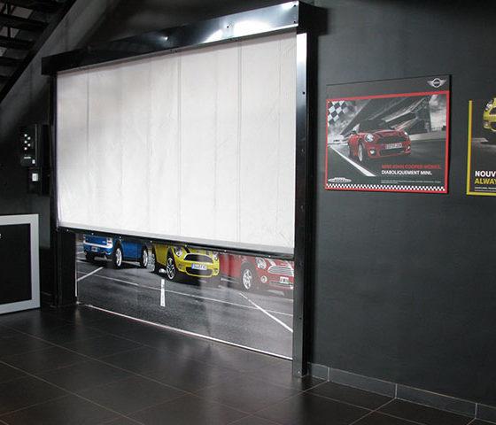 Rideau Souple FIBERSHEILD E60 – BMW MINI – Vélizy – 2009