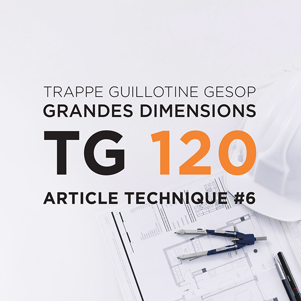Trappe guillotine EI120 de grandes dimensions : la TG120 Gesop