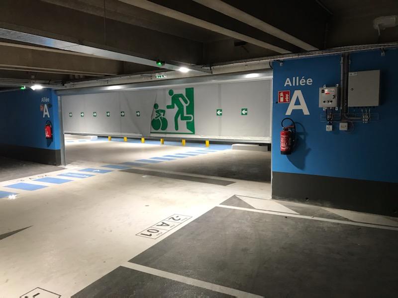 Rideau souple franchissable Push&Pass CDG côté